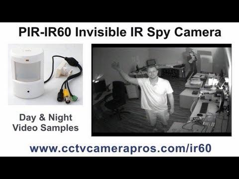 PIR-IR60 Hidden Infrared CCTV Spy Camera Surveillance Video Demo