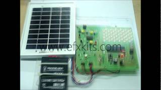 Solar Powered LED Street Light with Auto Intensity Control | ECE Projects