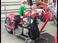 Ride on the old custom Harley chopper