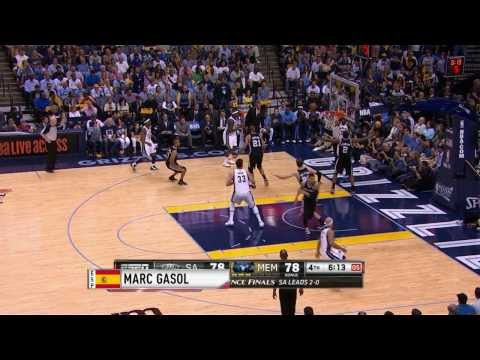 International Play of the Day: Gasol's rim-rocking slam dunk!