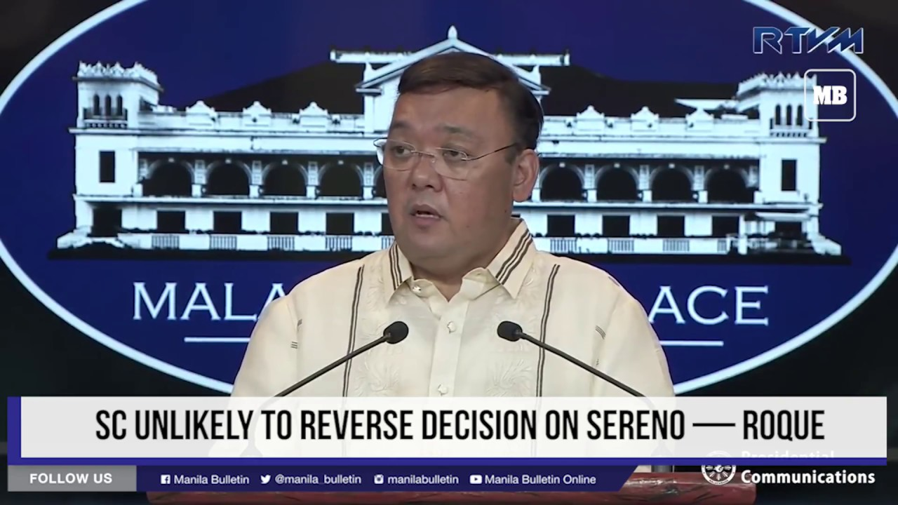 SC unlikely to reverse decision on Sereno — Roque