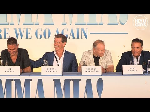 Mamma Mia! Here We Go Again - Press Conference - Pierce Brosnan, Andy Garcia, Jeremy Irvine
