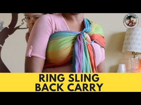 Back Carry in Ring Sling