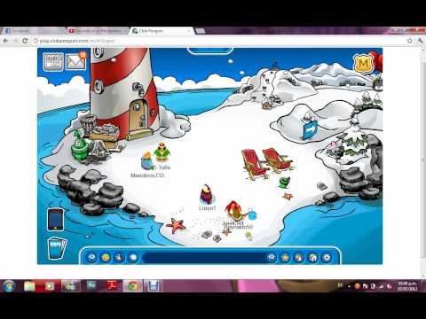 Club penguin-Encontre al puffle negro(dubstep)-Como encontrar al puffle dubstep