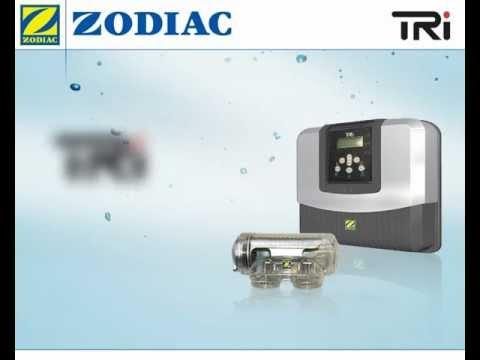 Clorador salino Zodiac TRI, tratamiento de agua de piscina por electrólisis salina.