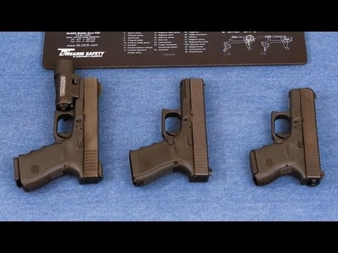 Glock 19 Gen 4, 23 and 27 comparison