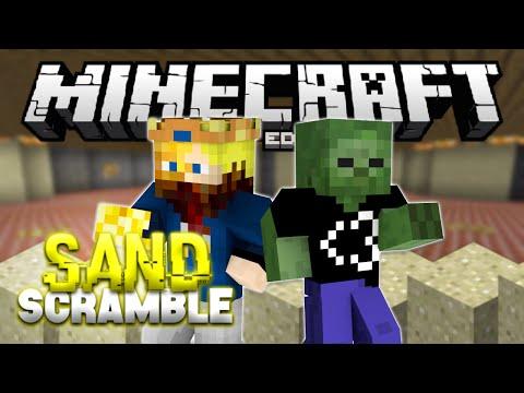 SAND SCRAMBLE! - Minecraft PE Multiplayer Minigame - MCPE 0.14.0 (Pocket Edition)