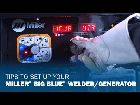 Setting up Your Big Blue Engine Drive from Miller with the Easy-to-Use Front Panel