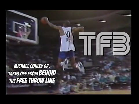 Mike Conley DUNKS off from BEHIND the FREE THROW LINE #TBT
