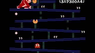 Pac-Quest [Game B] (NES/Famicom) donkey kong  pac-man hack clone