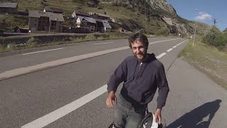 BMW K1200RS DOWNHILL / (Col D`Izoard,France)Following 2 crazy skateboards .Filmed with GoPro Hero3.