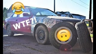 All Terrains on a car?! (lifted camry project)