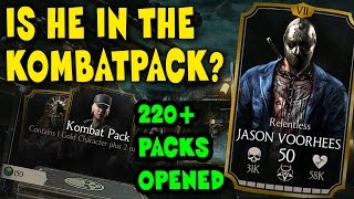 Biggest Kombat Pack opening in MKX Mobile! Is Relentless Jason in a kombat pack?