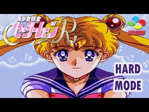 Bishoujo Senshi Sailor Moon R (美少女戦士セーラームーンR)  Hard Mode Snes 1993 (Play Sailor Moon) [HD]