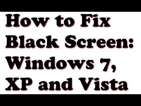 how to fix black screen windows 7 xp vista youtube. Black Bedroom Furniture Sets. Home Design Ideas