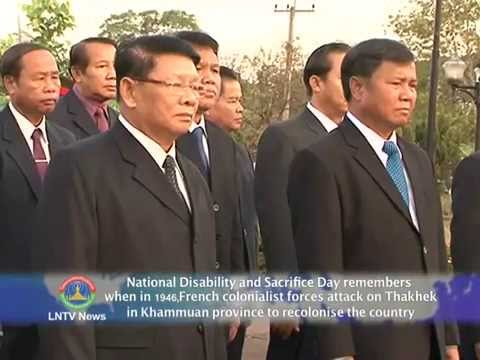 Lao NEWS on LNTV:National Disability and Sacrifice Day remembers when in 1946.21/3/2014