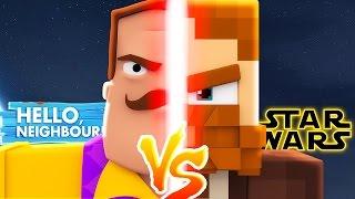 HELLO NEIGHBOUR VS STAR WARS - Minecraft