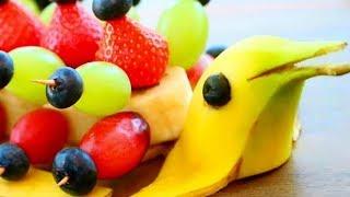 10 Banana Creative Food Art Ideas | Fruit & Vegetable Caving | Fun Food For Kids