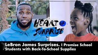 LeBron James Surprises I Promies School Student | Heart of Surprise