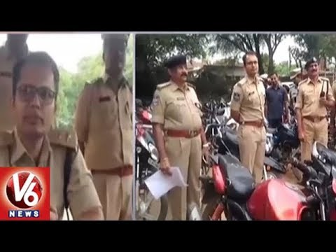 Nagarkurnool SP Sunpreet Singh Conducts Cordon Search Operation | Seizes 82 Vehicles | V6 News