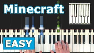 Minecraft Theme Song (Calm) - Piano Tutorial Easy - Sheet Music (Synthesia)