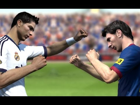 Cristiano Ronaldo vs Messi - Fight (FIFA)