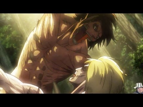 Attack on Titan Episode 21 進撃の巨人 Reaction/Review - Eren Vs Female Titan Fight (Shingeki No Kyojin)