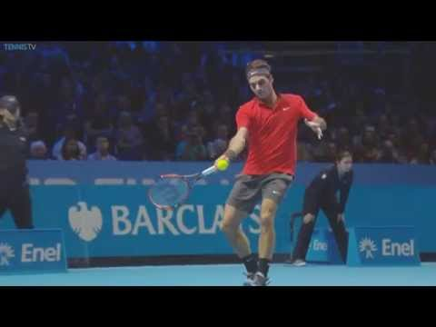 Watch Federer Hot Shot From Barclays ATP World Tour Finals