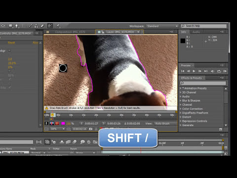 COMO QUITAR FONDO DE CUALQUIER VIDEO CON ROTO BRUSH EN AFTER EFFECTS