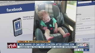 Mom shares car seat concern after son's death