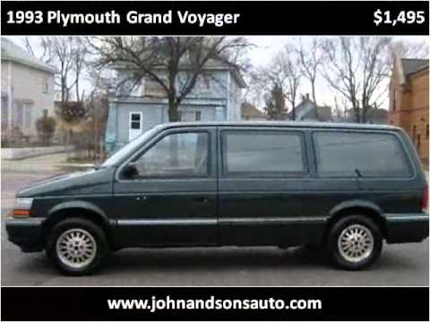 Used Cars Charleston Sc >> 1993 Plymouth Grand Voyager Used Cars Grand Rapids MI - YouTube