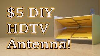 $5 DIY HDTV Antenna! Get FREE TV!