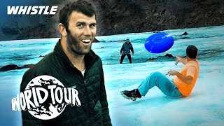 Brodie Smith Frisbee Trick Shots On A GLACIER!?