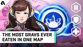Most Gravs Ever Eaten In One Map - Pro Overwatch Analysis | Behind The Akshon
