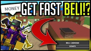 HOW TO GET FAST BELI | One Piece Millenium | ROBLOX | GET MONEY FAST!?