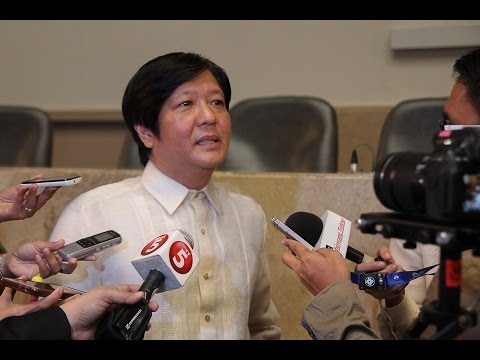 Sen. Bongbong Marcos - Ambush Interview before the 2014 SONA, 26 July 2014