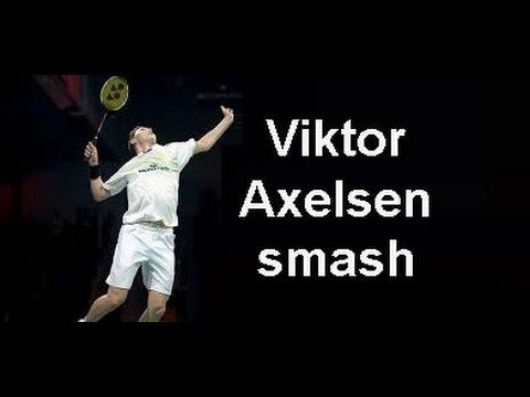 VIKTOR AXELSEN SMASH COMPILATION + 1 Trick Shot - European Championship 2016