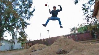 REAL LIFE FRUIT NINJA TRICK SHOTS *DANGEROUS*