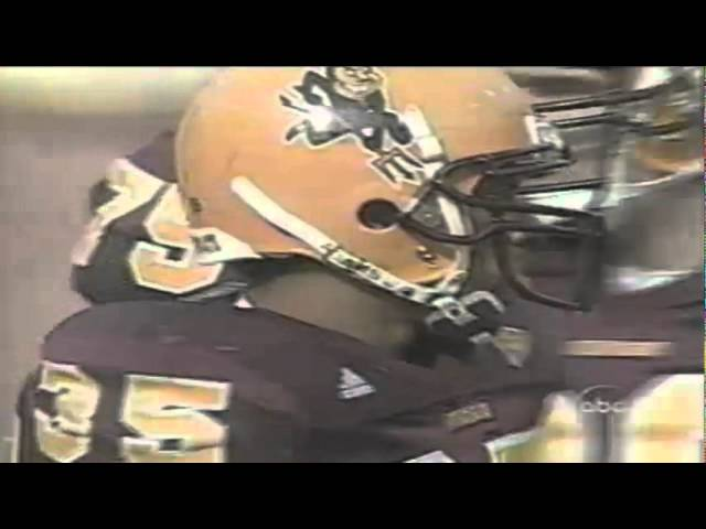 Oregon DT Zach Freiter stuffs ASU RB Mike Williams for a loss 10-28-2000