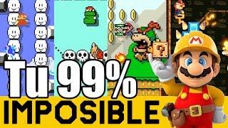 Niveles Sin VICTORIAS 😲 | 99% IMPOSIBLES de Suscriptores #18 | Super  Mario Maker - ZetaSSJ