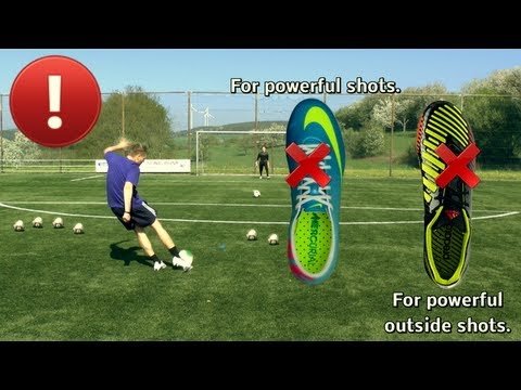 How to Shoot a Soccer Ball with Power   Vollspann Tutorial   freekickerz