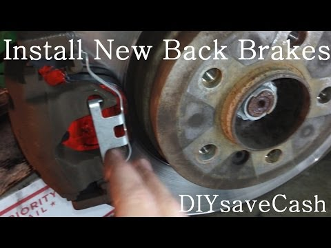 DIY BMW E65 E66 Install New Back Brakes And Brake Pad Sensor