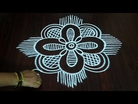 Freehand Rangoli || Best Quick Freehand Kolam Design || Fashion World