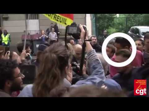 FRANCE: Protesters Throw Eggs at French Economy Minister Emmanuel Macron