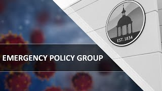 Emergency Policy Group Meeting - 06.22.2020