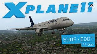 X-Plane 11 | EDDF - EDDT - Flight Factor A320