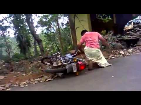 Another Funny Bike Stunt Fail In India