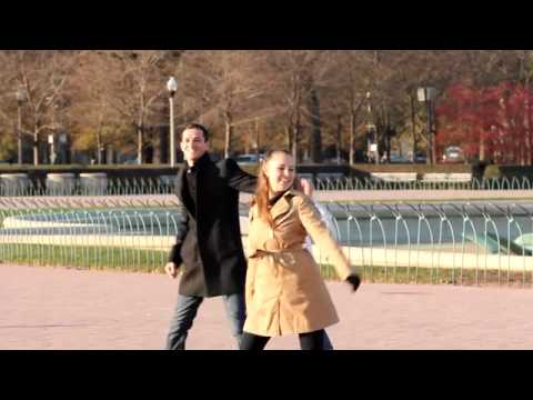 Flash Mob Proposal in Buckingham Fountain, You'll Love her Expression!