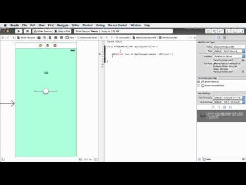 iOS Development with Swift Tutorial - 15 - Sliders