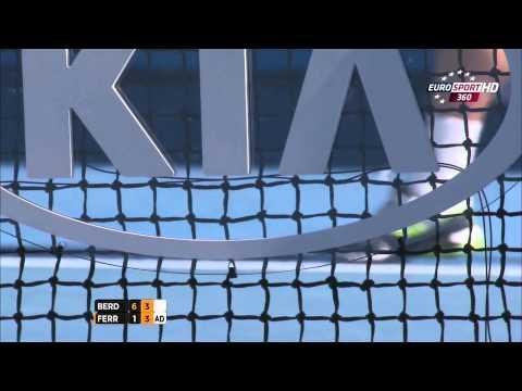 David Ferrer Vs Thomas Berdych Australian Open 2014 1/4 2 Set/Second Set 720 HD